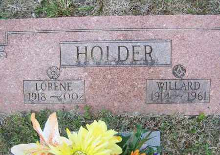 HOLDER, WILLARD G. - Lawrence County, Arkansas | WILLARD G. HOLDER - Arkansas Gravestone Photos