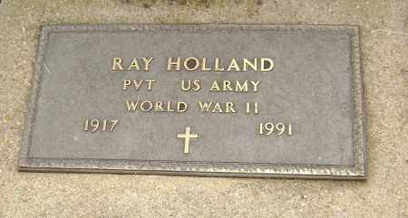 HOLLAND  (VETERAN WWII), RAY - Lawrence County, Arkansas | RAY HOLLAND  (VETERAN WWII) - Arkansas Gravestone Photos