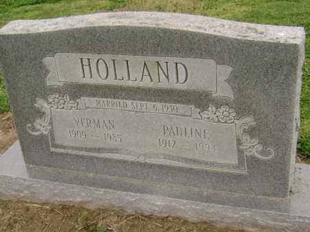 HOLLAND, VERMAN ELMER - Lawrence County, Arkansas | VERMAN ELMER HOLLAND - Arkansas Gravestone Photos