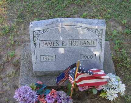 HOLLAND (VETERAN), JAMES ELBERT - Lawrence County, Arkansas | JAMES ELBERT HOLLAND (VETERAN) - Arkansas Gravestone Photos