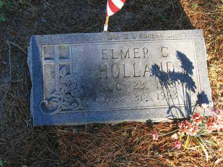 HOLLAND (VETERAN 2 WARS), ELMER C. - Lawrence County, Arkansas | ELMER C. HOLLAND (VETERAN 2 WARS) - Arkansas Gravestone Photos