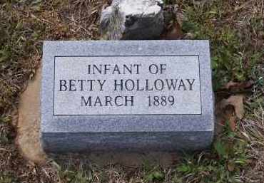 HOLLOWAY, INFANT - Lawrence County, Arkansas | INFANT HOLLOWAY - Arkansas Gravestone Photos