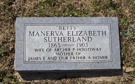 "SUTHERLAND HOLLOWAY, MANERVA ELIZABETH ""BETTY"" - Lawrence County, Arkansas 