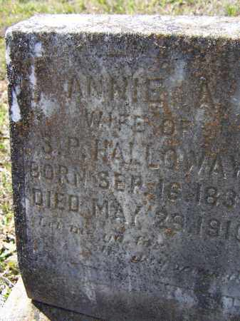 "HOLLOWAY, NANCY ALMEDIA ANN ""ANNIE A."" - Lawrence County, Arkansas 