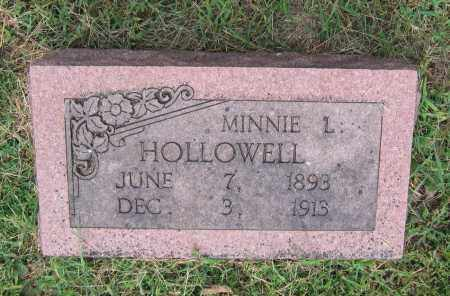 HOLLOWELL, MINNIE - Lawrence County, Arkansas | MINNIE HOLLOWELL - Arkansas Gravestone Photos