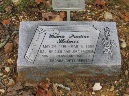 FRISBEE HOLMES, MAMIE PAULINE - Lawrence County, Arkansas | MAMIE PAULINE FRISBEE HOLMES - Arkansas Gravestone Photos