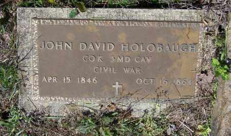 HOLOBAUGH (VETERAN UNION), JOHN DAVID - Lawrence County, Arkansas | JOHN DAVID HOLOBAUGH (VETERAN UNION) - Arkansas Gravestone Photos