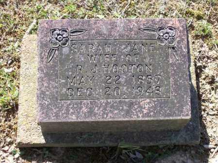 HOOTEN, SARAH JANE - Lawrence County, Arkansas | SARAH JANE HOOTEN - Arkansas Gravestone Photos