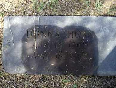 HORN, DONNA - Lawrence County, Arkansas | DONNA HORN - Arkansas Gravestone Photos