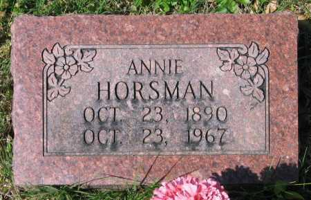 HORSMAN, ANNIE - Lawrence County, Arkansas | ANNIE HORSMAN - Arkansas Gravestone Photos