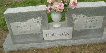 HOUSDAN, WALKER J. - Lawrence County, Arkansas | WALKER J. HOUSDAN - Arkansas Gravestone Photos