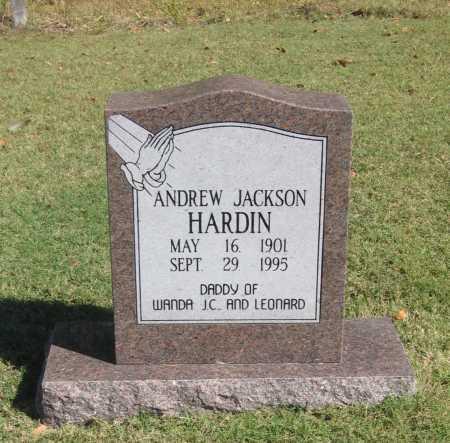HARDIN, ANDREW JACKSON - Lawrence County, Arkansas | ANDREW JACKSON HARDIN - Arkansas Gravestone Photos
