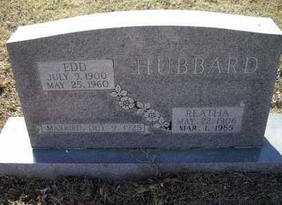 HUBBARD, REATHA MARY FRANCES - Lawrence County, Arkansas | REATHA MARY FRANCES HUBBARD - Arkansas Gravestone Photos