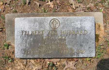 HUBBARD (VETERAN WWI), FELBERT ZEB - Lawrence County, Arkansas | FELBERT ZEB HUBBARD (VETERAN WWI) - Arkansas Gravestone Photos