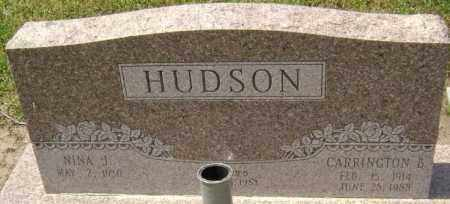 HUDSON, CARRINGTON BROWN - Lawrence County, Arkansas | CARRINGTON BROWN HUDSON - Arkansas Gravestone Photos
