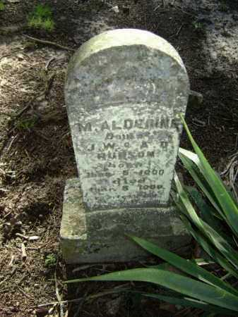 HUDSON, MADELIN ALDERINE - Lawrence County, Arkansas   MADELIN ALDERINE HUDSON - Arkansas Gravestone Photos
