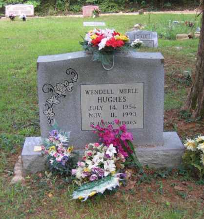 HUGHES, WENDELL MERLE - Lawrence County, Arkansas | WENDELL MERLE HUGHES - Arkansas Gravestone Photos