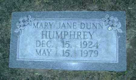 DUNN HUMPHREY, MARY JANE - Lawrence County, Arkansas | MARY JANE DUNN HUMPHREY - Arkansas Gravestone Photos