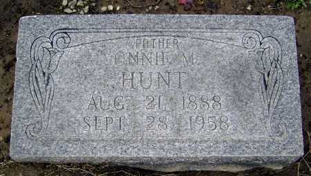 HUNT, ONNIE M. - Lawrence County, Arkansas | ONNIE M. HUNT - Arkansas Gravestone Photos