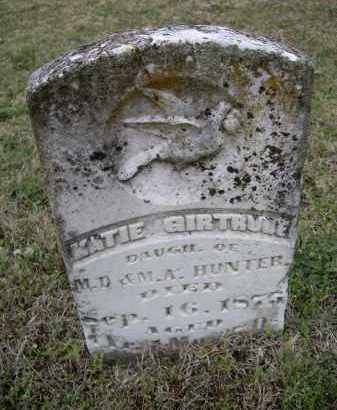 HUNTER, KATIE GIRTRUDE - Lawrence County, Arkansas | KATIE GIRTRUDE HUNTER - Arkansas Gravestone Photos