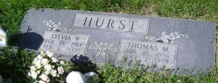 HURST, SYLVIA W. - Lawrence County, Arkansas | SYLVIA W. HURST - Arkansas Gravestone Photos