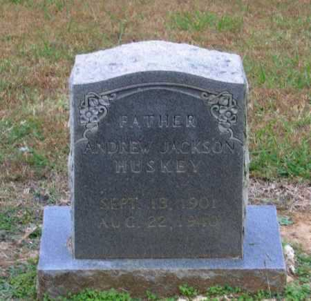 HUSKEY, ANDREW JACKSON - Lawrence County, Arkansas | ANDREW JACKSON HUSKEY - Arkansas Gravestone Photos