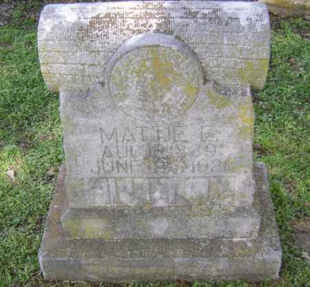 HUTTON, MATTIE E. - Lawrence County, Arkansas | MATTIE E. HUTTON - Arkansas Gravestone Photos