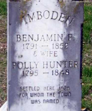 IMBODEN, BENJAMIN F. AND POLLY HUNTER - Lawrence County, Arkansas | BENJAMIN F. AND POLLY HUNTER IMBODEN - Arkansas Gravestone Photos