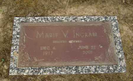 INGRAM, MARIE V. - Lawrence County, Arkansas | MARIE V. INGRAM - Arkansas Gravestone Photos