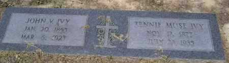 MUSE IVY, TENNIE - Lawrence County, Arkansas | TENNIE MUSE IVY - Arkansas Gravestone Photos