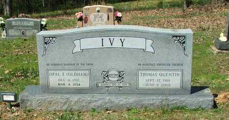 IVY, THOMAS QUENTIN - Lawrence County, Arkansas | THOMAS QUENTIN IVY - Arkansas Gravestone Photos