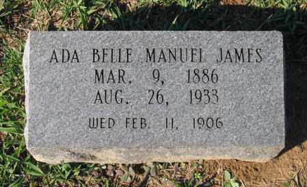 MANUEL JAMES, ADA BELLE - Lawrence County, Arkansas | ADA BELLE MANUEL JAMES - Arkansas Gravestone Photos