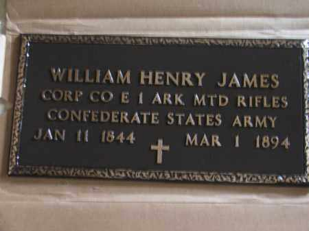 JAMES (VETERAN CSA), WILLIAM HENRY - Lawrence County, Arkansas | WILLIAM HENRY JAMES (VETERAN CSA) - Arkansas Gravestone Photos
