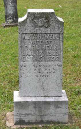 HOWELL JEAN, ALTA - Lawrence County, Arkansas | ALTA HOWELL JEAN - Arkansas Gravestone Photos