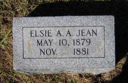 JEAN, ELSIE A. A. - Lawrence County, Arkansas | ELSIE A. A. JEAN - Arkansas Gravestone Photos