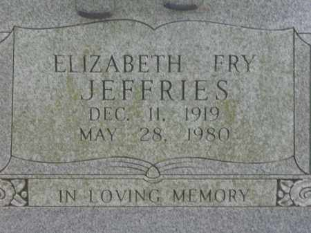 FRY JEFFRIES, ELIZABETH - Lawrence County, Arkansas | ELIZABETH FRY JEFFRIES - Arkansas Gravestone Photos