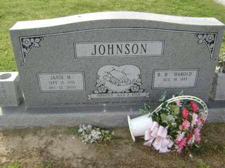 JOHNSON, JANIE M. - Lawrence County, Arkansas | JANIE M. JOHNSON - Arkansas Gravestone Photos
