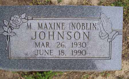 NOBLIN JOHNSON, M. MAXINE - Lawrence County, Arkansas | M. MAXINE NOBLIN JOHNSON - Arkansas Gravestone Photos