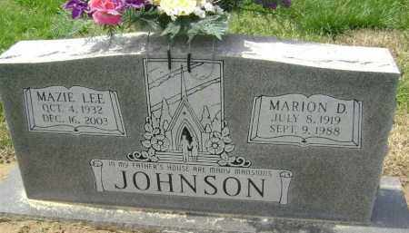 JOHNSON, MARION D. - Lawrence County, Arkansas | MARION D. JOHNSON - Arkansas Gravestone Photos