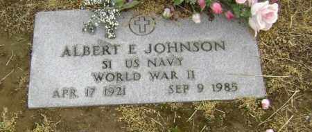 JOHNSON  (VETERAN WWII), ALBERT ERNEST - Lawrence County, Arkansas | ALBERT ERNEST JOHNSON  (VETERAN WWII) - Arkansas Gravestone Photos