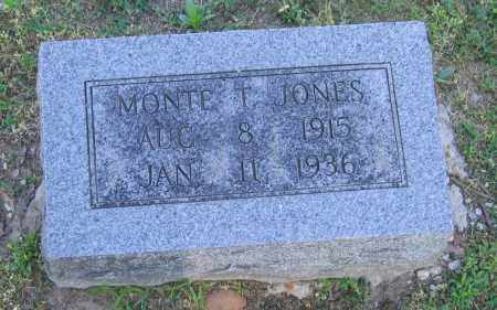 JONES, MONTE T. - Lawrence County, Arkansas | MONTE T. JONES - Arkansas Gravestone Photos