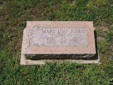 CLEMENTS JONES, MARY LOU - Lawrence County, Arkansas | MARY LOU CLEMENTS JONES - Arkansas Gravestone Photos