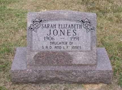 JONES, SARAH ELIZABETH - Lawrence County, Arkansas | SARAH ELIZABETH JONES - Arkansas Gravestone Photos