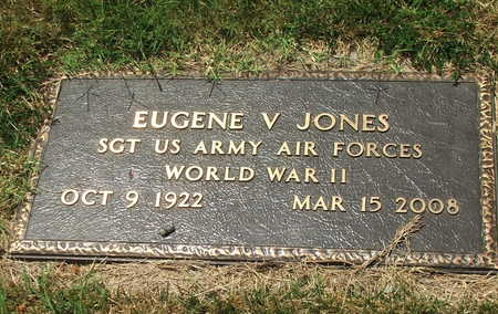 JONES (VETERAN WWII), EUGENE V - Lawrence County, Arkansas | EUGENE V JONES (VETERAN WWII) - Arkansas Gravestone Photos
