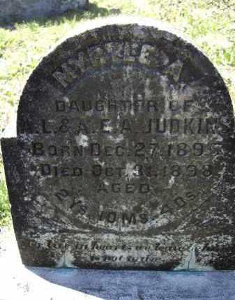 JUDKINS, MYRTLE A. - Lawrence County, Arkansas | MYRTLE A. JUDKINS - Arkansas Gravestone Photos