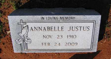 JUSTUS, ANNABELLE - Lawrence County, Arkansas | ANNABELLE JUSTUS - Arkansas Gravestone Photos