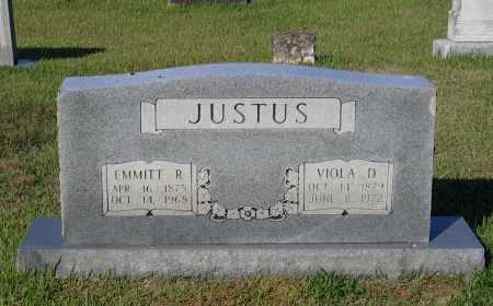 JUSTUS, EMMITT ROE - Lawrence County, Arkansas | EMMITT ROE JUSTUS - Arkansas Gravestone Photos