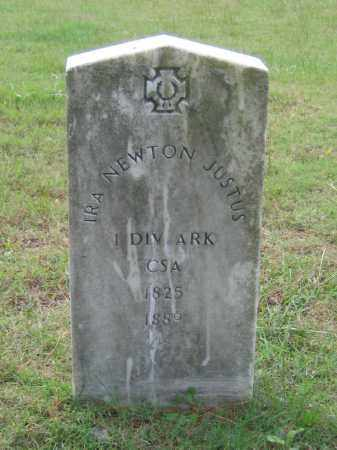 JUSTUS (VETERAN CSA), IRA NEWTON - Lawrence County, Arkansas | IRA NEWTON JUSTUS (VETERAN CSA) - Arkansas Gravestone Photos