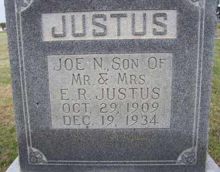 "JUSTUS, JOSEPH N. ""JOE N."" - Lawrence County, Arkansas 