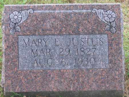 JUSTUS, MARY ELIZABETH - Lawrence County, Arkansas | MARY ELIZABETH JUSTUS - Arkansas Gravestone Photos